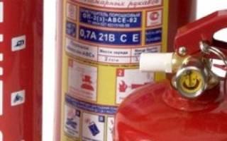 Автомобильный огнетушитель срок годности