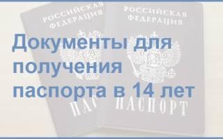 Доккменты для оформления паспорта 14 лет