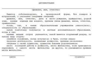Автобиография выпускника 11 класса