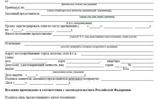 Запрос с паспортного стола для прописки постоянной