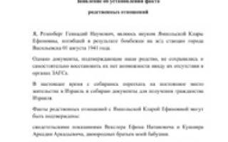 Наследство / Образцы документов