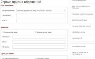 Заявление в полицию по интернету пермь
