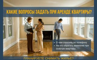 Какие вопросы задавать при съеме квартиры